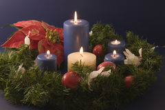 Christmas Candles on black Royalty Free Stock Photography