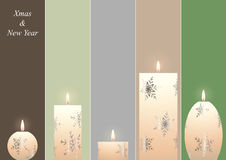 Christmas candles bookmarks Royalty Free Stock Image