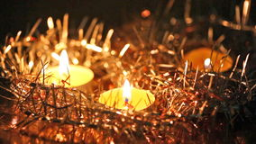 Christmas candles stock video