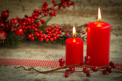 Christmas candles Stock Photography