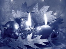 Christmas Candles Card - Stock Photo Royalty Free Stock Photo