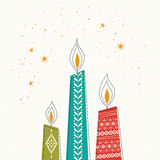 Christmas candles, christmas card Royalty Free Stock Images