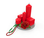 Christmas Candles Decoration Royalty Free Stock Photos
