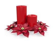 Christmas Candles Decoration Stock Photos