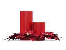 Christmas Candles Decoration Royalty Free Stock Image