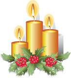 Christmas candles. Design for banner Royalty Free Stock Photo