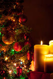Christmas candles Stock Photos