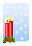 Christmas candles greetings card Royalty Free Stock Photography