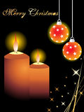 Christmas  with candles and hanging stars Royalty Free Stock Image