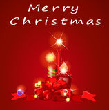 Christmas and candles Royalty Free Stock Images