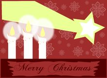 Christmas candles background royalty free stock image