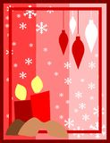 Christmas candles. Illustration represeting two candles with decorations. An idea for Christmas time vector illustration