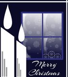 Christmas candles in blue tones stock photos