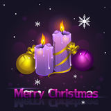 Christmas candles new Stock Images
