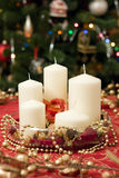 Christmas candles pack Stock Photos