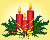 Christmas candles. Stock Image