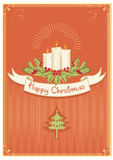 Christmas candles and scroll stock images