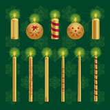 Christmas Candles Set Stock Photo