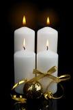 Christmas candles table setting Stock Image