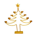 Christmas candlestick. Candlestick in a shape of Christmas tree isolated with clipping path includedca royalty free stock image