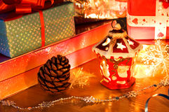 Christmas candlestick . Royalty Free Stock Photos