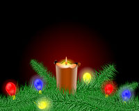 Christmas candlestick. And christmas ball Royalty Free Stock Images