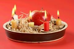 Christmas candlestick Stock Photography