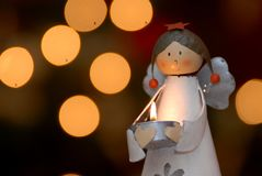 Christmas candlestick Stock Images