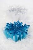 Christmas candlestick - snowflakes Stock Image