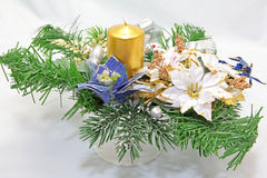 Christmas candlestick Royalty Free Stock Images