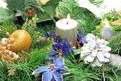 Christmas candlestick Stock Photos