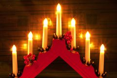 Christmas candlesticks Royalty Free Stock Photos