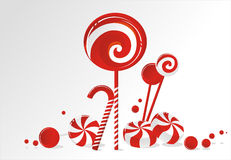 Christmas candy. Allsorts Christmas smooth striped candy Royalty Free Stock Photography