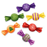 Christmas candy. Set. Bitmap picture with additional vector file Stock Image