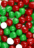 Christmas Candy. Red white, and green Christmas candy stock photo