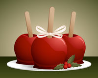 Christmas Candy Apples Stock Images