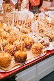 Christmas candy apples stock image