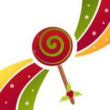 Christmas candy background. Christmas background with glossy candy Royalty Free Illustration