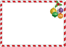 Christmas candy border. Simple christmas red and white candy border with hanging decorations Stock Illustration