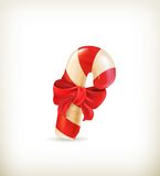 Christmas candy with bow Royalty Free Stock Photography
