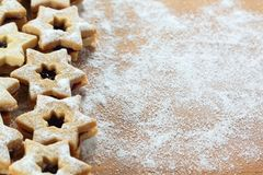 Christmas candy  called Linz cookies Stock Photos