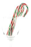 Christmas candy cane Stock Images