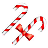 Christmas Candy Cane. Isolated on a white background. Vector illustration Stock Photography