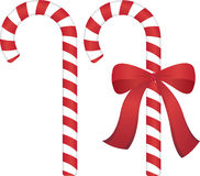 Christmas candy cane. S with and without ribbon. Vector Illustration Stock Photography