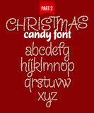 Christmas Candy cane alphabet. Vector illustration Royalty Free Stock Image