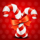 Christmas candy cane background Royalty Free Stock Photography