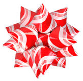 Christmas candy cane bow Royalty Free Stock Photo