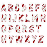 Christmas Candy Cane Color Alphabet Letters Royalty Free Stock Photo