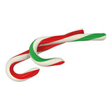 Christmas Candy Cane , 3d rendering. Isolated on white background Royalty Free Stock Image