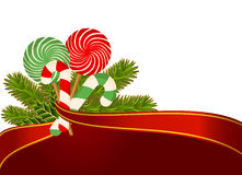 Christmas candy cane decorated. Stock Photography